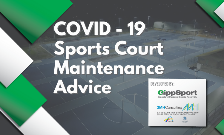 COVID 19 Sport Court Maintenance Advice